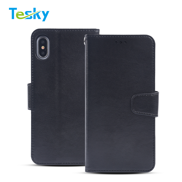 Factory OEM High-quality Flip PU Leather Phone Wallet Case for iPhone XR