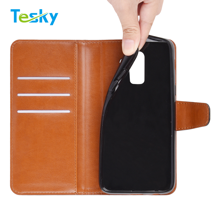 Factory OEM Wholesale High-quality Flip Leather Wallet Mobile Phone Case for Samsung Galaxy J8