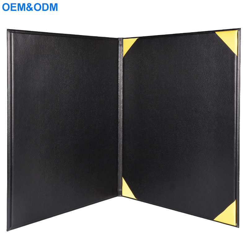 Factory Customized Wholesale A4 Leather Certificate Holder File Folder for Graduation