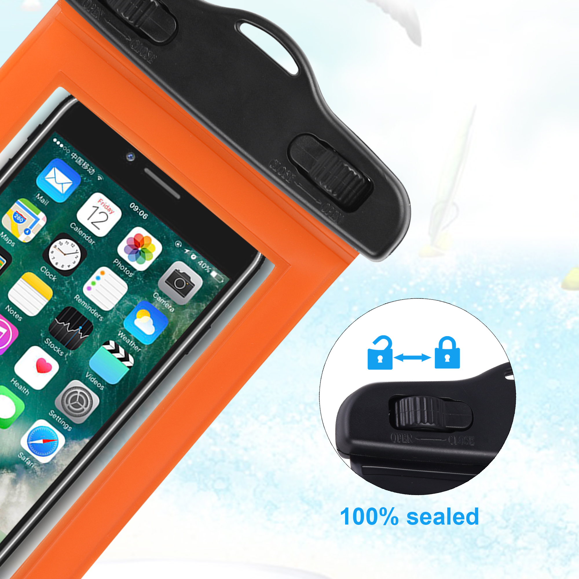Factory Top Selling 4.7 inch Phone Waterproof Case / PVC Waterproof Bag / Waterproof Phone Pouch for iPhone 6 / 6s / 7 / 8
