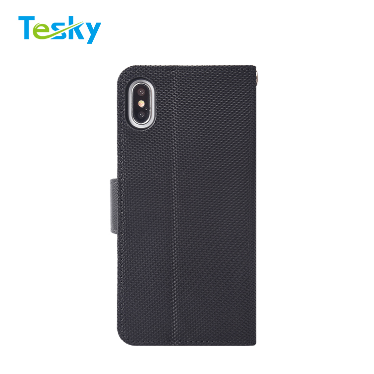 Factory OEM Wholesale High-quality Business style Flip mobile phone wallet case for iPhone XS Max