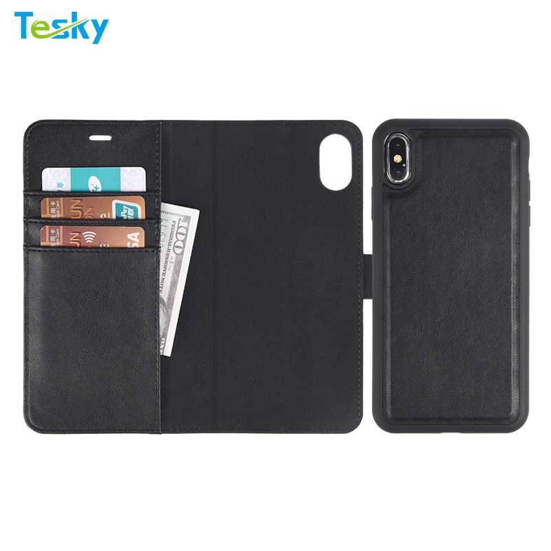 2 in 1 Detachable Phone Case for iPhone XS Max Leather Cell Phone Case for iPhone XS Max