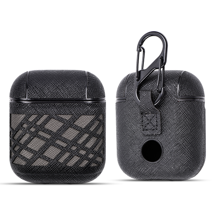 For Airpods Leather Case Cover Luxury PU Pattern Protective Skin Compatible For Airpods Charging Case