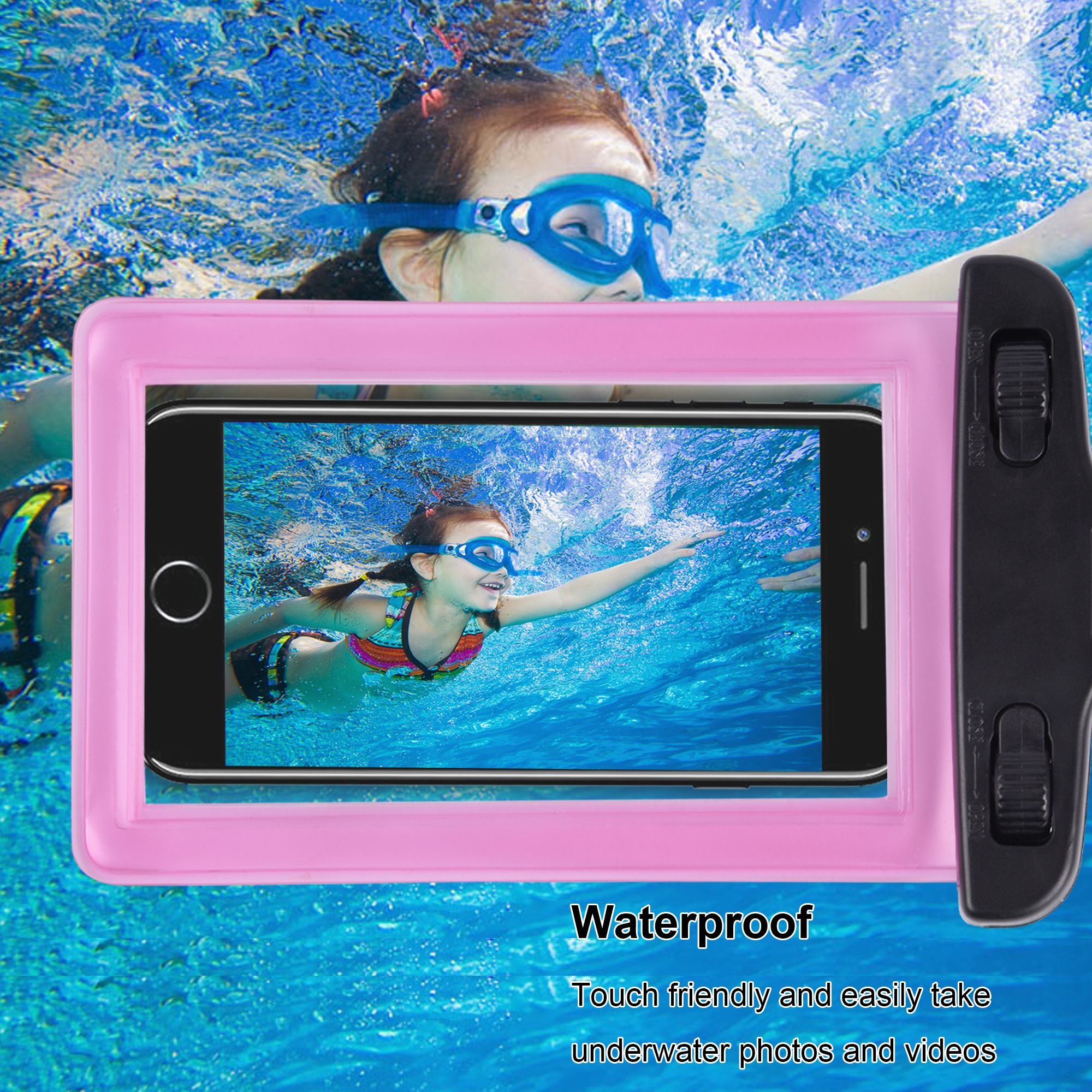 Factory Custom Wholesale 5.5 inch Waterproof Cell Phone Case for iPhone