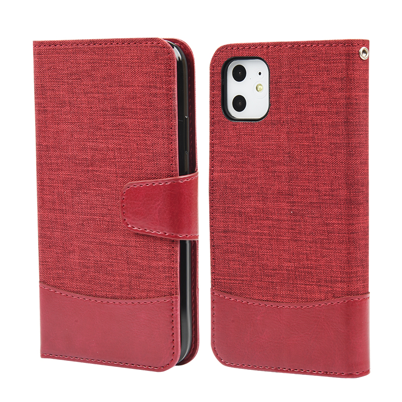 Tesky Slim Pu Leather Flip Phone Wallet Case Mobile Phone Pouch With Card Slots For iPhone 11