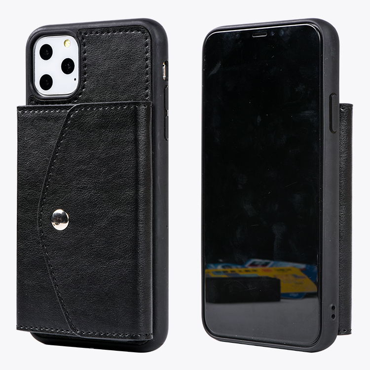 Trendy Ultra Slim Card Slots Leather Cell Phone Back Case for iPhone 11