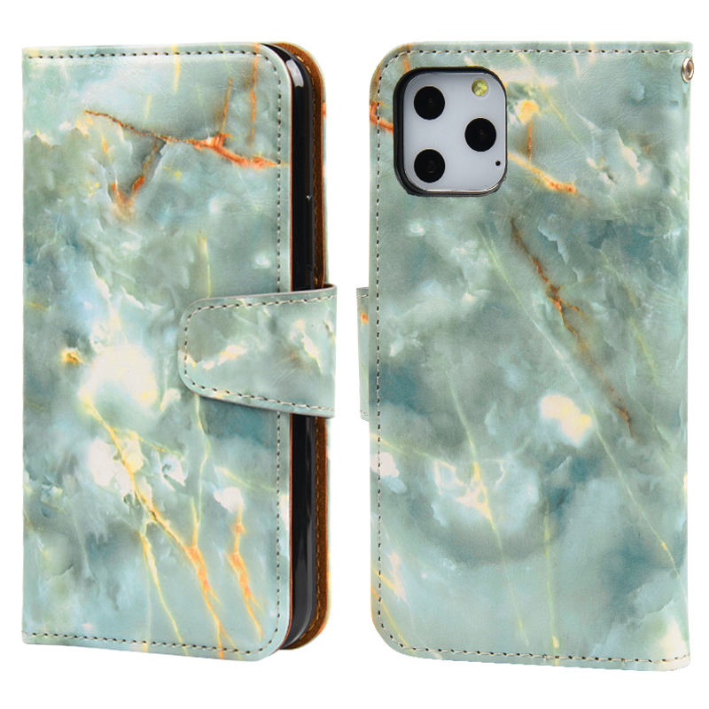 Customized Logo High Quality Marble Leather Phone Case Mobile Phone Pouch For iPhone 11 Pro