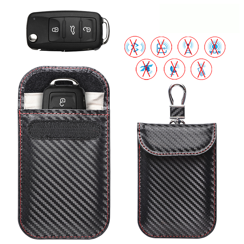 Keyless Entry Car Key Fob Pouches Fob Guard Car Key Signal Blocker Bag Id Card Rfid Blocker For Secure Protection